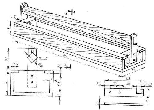 Схема желобковой кормушки